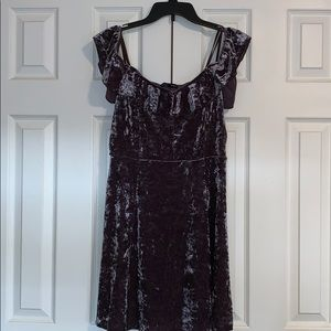 Dark Lilac Velvet Dress American Eagle Large